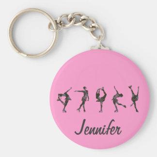 Chaveiro A figura patinadores, rosa, cinza personaliza