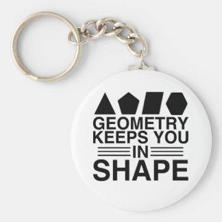 Chaveiro A geometria mantem-no na piada da chalaça da
