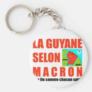Chaveiro A Guiana de acordo com Macron é uma ilha