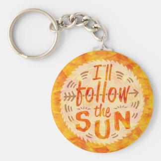 Chaveiro A laranja do verão da luz do sol pintada segue Sun