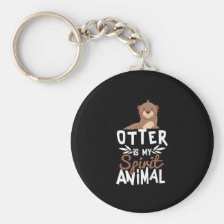 Chaveiro A lontra bonito é meu impressão animal do espírito