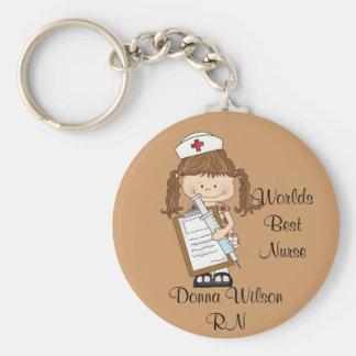 Chaveiro A melhor enfermeira do mundo personalizada