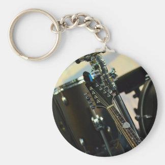 Chaveiro A música dos instrumentos rufa o instrumento
