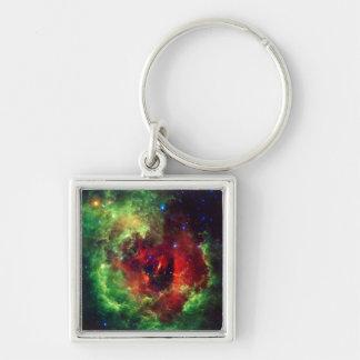 Chaveiro A nebulosa cor-de-rosa do Rosette dos unicórnios