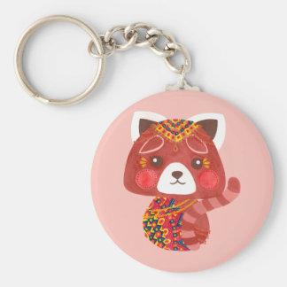 Chaveiro A panda vermelha bonito