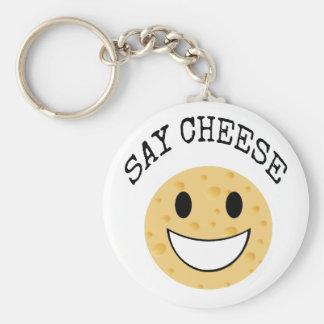 Chaveiro a piada bonito engraçada diz o queijo
