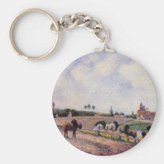 Chaveiro A ponte de Pontoise por Camille Pissarro