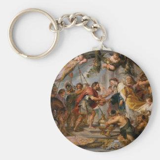 Chaveiro A reunião de Abraham e de arte de Melchizedek