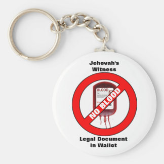 Chaveiro A testemunha de Jehovah - nenhum sangue - corrente