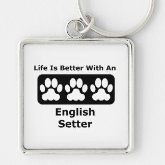 Chaveiro A vida é melhor com um setter inglês