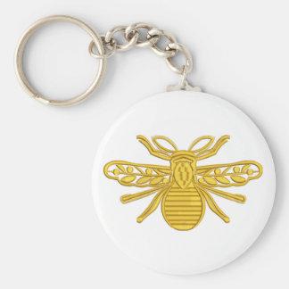 Chaveiro abelha real, imitação do bordado