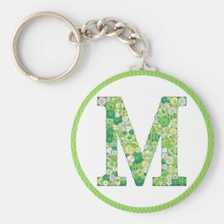 Chaveiro Abotoe a corrente chave da letra M