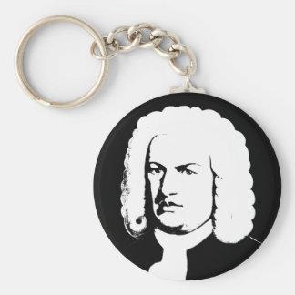 Chaveiro Abstractamente e Johann Sebastian Bach em preto