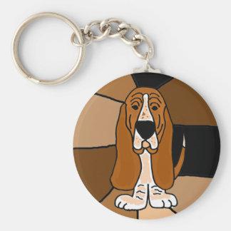 Chaveiro Abstrato adorável da arte do cão de Basset Hound