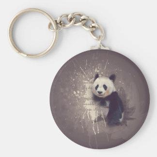 Chaveiro Abstrato bonito da panda