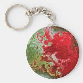 Chaveiro Abstrato do vermelho e do verde