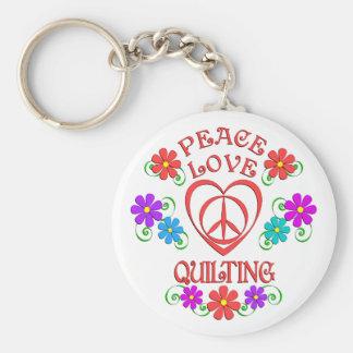Chaveiro Acolchoado do amor da paz