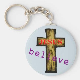 Chaveiro Acredite em Jesus