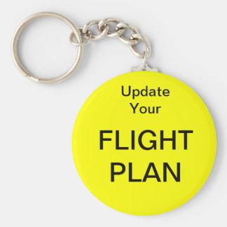 Chaveiro Actualize seu plano de vôo - tamanho grande