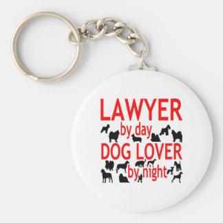 Chaveiro Advogado pelo amante do cão do dia em a noite no