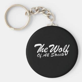 Chaveiro Agradável o lobo de todo o impressão das ruas