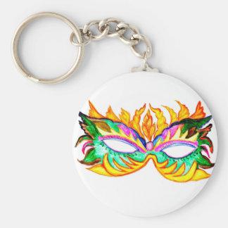 Chaveiro Aguarela da máscara do carnaval