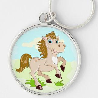 Chaveiro alegre do cavalo dos desenhos animados do