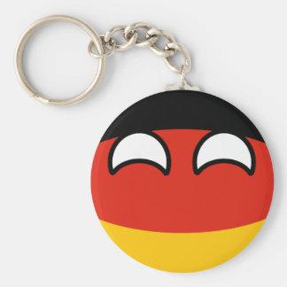 Chaveiro Alemanha Geeky de tensão engraçada Countryball