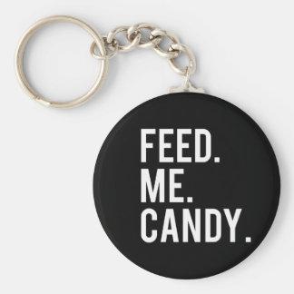 Chaveiro Alimente-me o impressão dos doces