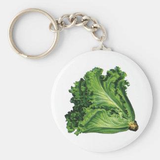 Chaveiro Alimentos do vintage, vegetais verdes da alface de