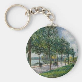 Chaveiro Allée de árvores de castanha - Alfred Sisley