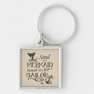 Chaveiro Alma de uma sereia, boca de um marinheiro