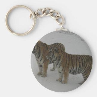 Chaveiro Alugueres dois tigres Siberian