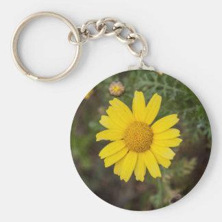 Chaveiro Amarelo do cu da flor da margarida