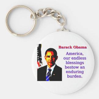 Chaveiro América nossas bênçãos infinitas - Barack Obama