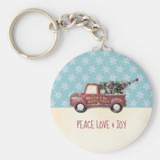 Chaveiro Amor & alegria da paz com Feliz Natal do caminhão