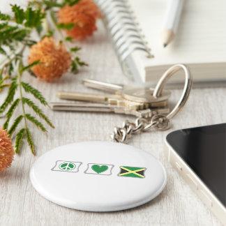 Chaveiro Amor da paz e quadrados de Jamaica