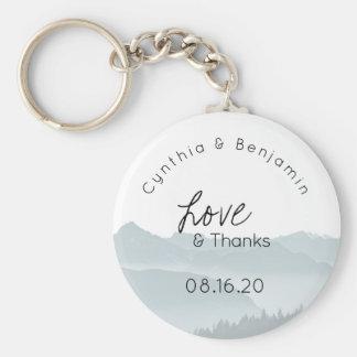 Chaveiro Amor do favor do casamento do anel chave de