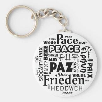 Chaveiro Anel chave com multi design da paz da língua