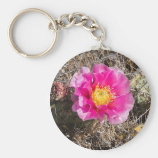 Chaveiro Anel chave cor-de-rosa de pera espinhosa