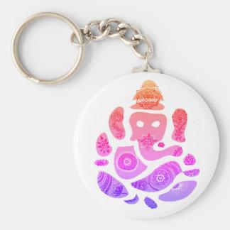 Chaveiro Anel chave da arte colorida de Ganesh