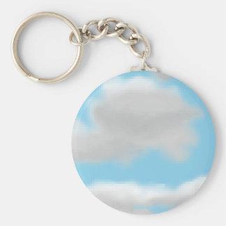 Chaveiro Anel chave da arte do pixel do céu nebuloso