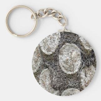 Chaveiro Anel chave da árvore da samambaia de prata