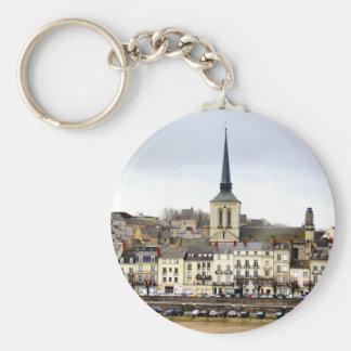 Chaveiro Anel chave da cena do banco de rio de Saumur