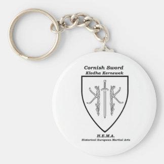 Chaveiro Anel chave da crista completa Cornish da espada