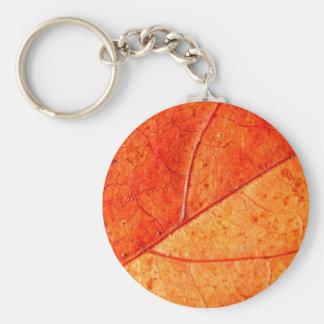Chaveiro Anel chave da folha do outono
