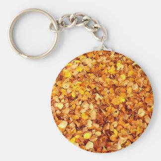 Chaveiro Anel chave de folhas de outono