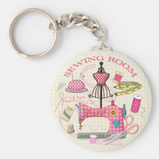 Chaveiro Anel chave de sala Sewing