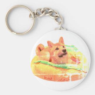 Chaveiro Anel chave de Shiba do cachorro quente
