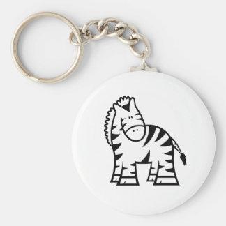 Chaveiro Anel chave do botão básico da zebra dos desenhos